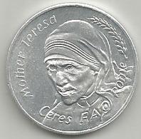 Madre Teresa, Fao Roma 1975, Anno Santo, Food For All, Mistura Gr. 3, Cm. 2,8. - Italia