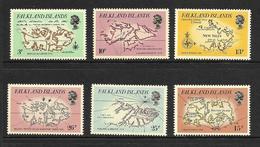 FALKLAND 1981 CARTE DES ILES FALKLAND YVERT N°318/23 NEUF MNH** - Falkland