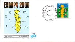 "BRD Schmuck-FDC ""Europa 2000"", Mi. 2113 ESSt 12.5.2000 BONN - FDC: Briefe"