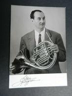 19884) ETTORE PAGGIARI MUSICISTA CON DEDICA E FIRMA AL RETRO - Autografi