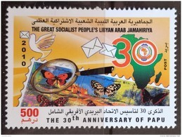 L21 - Libya 2010 MNH Stamp - 30th Anniversary Of The Pan African Postal Union PAPU- Butterfly - Stamp On Stamp - Libië