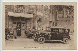 Conques Sur Orbeil Cafe De La Poste Pompe A Essence Pub Citroen  Rare - Autres Communes