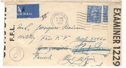 17436 - Censure F.F.L. Pour Le TCHAD - Storia Postale