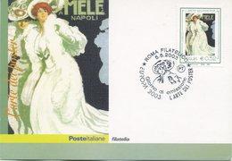ITALIA - FDC MAXIMUM CARD 2003 - EUROPA - L'ARTE DEI POSTER - BIANCO - ANNULLO SPECIALE - Cartoline Maximum