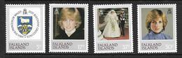 FALKLAND 1982 DIANA  YVERT N°348/51 NEUF MNH** - Falkland