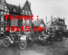 Reproduction D'une Photographie Ancienne De Vos Anciennes Ont Un Panhard Fin Du 19 ème Siècle - Reproductions