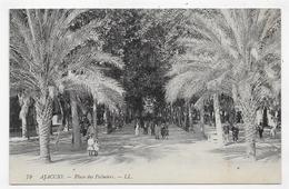 AJACCIO - N° 79 - PLACE DES PALMIERS AVEC PERSONNAGES - CPA NON VOYAGEE - Ajaccio