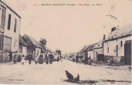 80 - LA SOMME - MAILLY-MAILLET - RUE LALEU - VUE NORD - 1914 - Otros Municipios