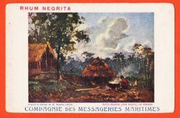 Af140 MOMBASA Kenya Hutte Indigene Pays KIKUYU Via  Cppub RHUM NEGRITA Tableau Maurice LEVIS Messageries Maritimes - Kenya