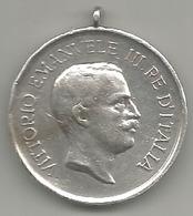 Vittorio Emanuele III Re D'Italia, Esercito Italiano, Gara Di Tiro Fra Sottufficiali, Argento, Gr. 10, Cm. 3. - Italia