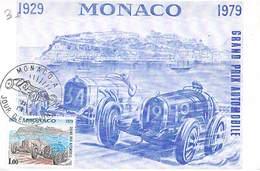 MONACO - Grand Prix Automobile 1979 -Timbre Et Tampon Jour D'émission - Maximum Cards