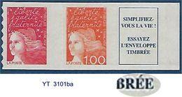 "FR Adhesif YT 16ba (3101ba) T II "" Luquet SV + 1F + Vignette "" 1997 Neuf** - Adhésifs (autocollants)"
