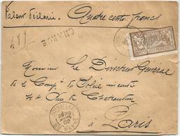 MERSON 50C SEUL LETTRE CHARGE DESCRIPTIF AU DOS JOINVILLE HTE MARNE 20 MARS 1902 - Marcophilie (Lettres)