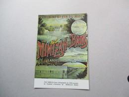 CP Pub Chemin De Fer Du Midi - Mimizan Les Bains - Werbepostkarten