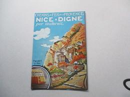 CP Pub Chemin De Fer De La Provence - Nice à Digne Par L'autorail - Werbepostkarten