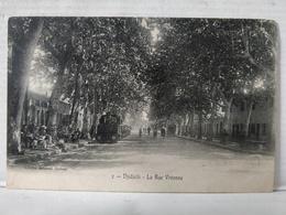 Jijel. Djidjelli. Rue Vivonne. Animée. Train. RARE - Algérie