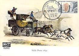 14 Caen 1963 / Cachet Commémoratif Sur N° 1389 - Car Exposition Des PTT - Malle Poste 1842 - Postal Services