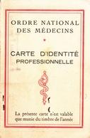 CARTE IDENTITE PROFESSIONNELLE ORDRE NATIONAL DES MEDECINS HAUTE GARONNE; 1977 - Maps
