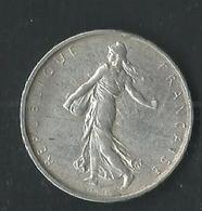 5 Francs Semeuse 1963 Argent - France