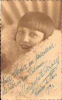 Casino De Paris, Dedicace, Margueritte Perney, 1930        (bon Etat)  Carte Photo. - Artistes