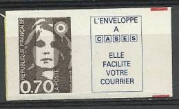 "FR Adhesif YT 6a (2873a) Vignette "" Briat 70c. Brun "" 1994 Neuf** - 1989-96 Marianne Du Bicentenaire"