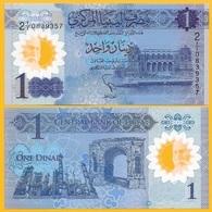Libya 1 Dinar P-new 2019 -- First Prefix A/1 --  UNC Polymer Banknote - Libya