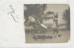 NATAL - Carte-photo - Charrette Tractée Par Un Homme (style Pousse Pousse) Septembre 1921 Pour Tourcoing - Südafrika