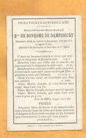 IMAGE PIEUSE GENEALOGIE FAIRE PART AVIS DECES BARON DE BONHOMME DE DAMPICOURT - Obituary Notices