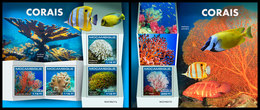 MOZAMBIQUE 2019 - Corals. M/S + S/S. Official Issue - Maritiem Leven