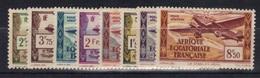 AEF 1937 Yvert PA 1/8 Neufs** MNH (32) - A.E.F. (1936-1958)