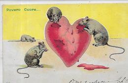 Thèmes,HUMOUR,Povero Cuore , Couleurs, Scan Recto-Verso - Humour
