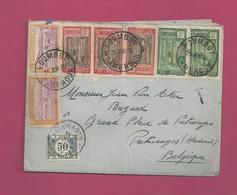 Lettre De 1936 Pour La Belgique - YT N° 109 X 2, 112 X 3 Et 115 X 2 - Lettre Taxée En Belgiqe - Kameroen (1915-1959)