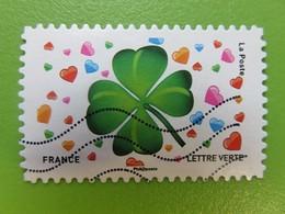 Timbre France YT 1569 AA - Emoji Les Messagers De Vos émotions - Trèfle à Quatre Feuilles - 2018 - Frankrijk