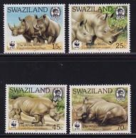 Swaziland 1987, WWF Rhino Complete Set, MNH. Cv 30 Euro - Swaziland (1968-...)