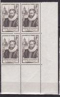 N° 754 Journée Du Timbre: Guillaume Fouquet Marquis De Varane: Beau Bloc De 4 Timbres Neuf Impeccable - France