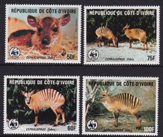 Ivory Coast 1985, WWF Complete Set, MNH. Cv 55 Euro - Ivory Coast (1960-...)