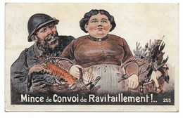 Carte Fantaisie Mince De Convoi De Ravitaillement !.. 1919 - Patriotiques