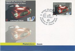 ITALIA - FDC MAXIMUM CARD 2003 - EUROPALIA - PININFARINA - ANNULLO SPECIALE - Cartes-Maximum (CM)