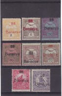 # Z.9805 Hungary, I Serbian Occupation In Baranya 1919 Hungarian 8 Stamps Overprint MH, MNH: Turul, Help War - Baranya