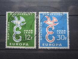 VEND BEAUX TIMBRES DE SARRE N° 421 + 422 !!! - 1957-59 Federazione