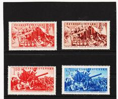 POL1756 TSCHECHOSLOWAKEI CSSR 1952 MICHL 727/30 ** Postfrisch SIEHE ABBILDUNG - Tschechoslowakei/CSSR