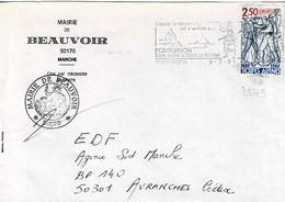 TP N° 2543 Seul  Sur Enveloppe De Beauvoir - 1961-....