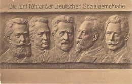 Sculptochromie Les Chefs Historiques Du SPD Allemand Die Führer Der Deutschen Sozialdemokratie Bebel , Legien, Vollmar - People
