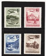 POL1757 TSCHECHOSLOWAKEI CSSR 1951 MICHL 678/81 (*) FALZ  SIEHE ABBILDUNG - Tschechoslowakei/CSSR