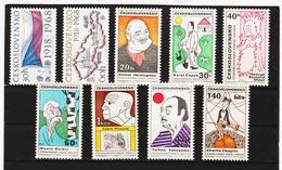 POL1762 TSCHECHOSLOWAKEI CSSR 1968 MICHL 1829/30 + 1832/38 SIEHE ABBILDUNG - Tschechoslowakei/CSSR