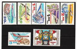 POL1763 TSCHECHOSLOWAKEI CSSR 1973 MICHL 2166/71 + 2184 SIEHE ABBILDUNG - Tschechoslowakei/CSSR