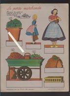 Combourg / Laiteries Du Mont Dol / 2 Découpages Publicitaires / Petite Fermière Et Marchande / France-édition - Reclame