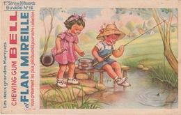 BUVARD - CHEWING GUM BELL ET FLAN MIREILLE - Buvards, Protège-cahiers Illustrés