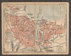 CARTE TOPOGRAPHIQUE 1925 CHERBOURG ARSENAL MANCHE (50) - Imp DUFRENOY PARIS - Topographical Maps