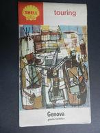 8G) GENOVA TOURING PIANTA TURISTICA GRANDE CARTA - Carte Stradali